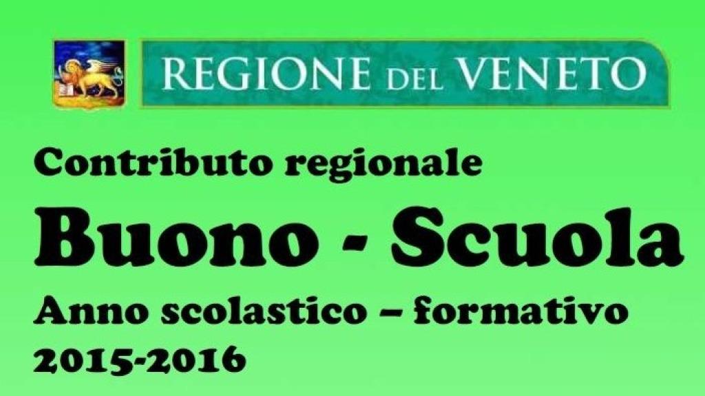 Buono Scuola Regione Veneto 2015-2016