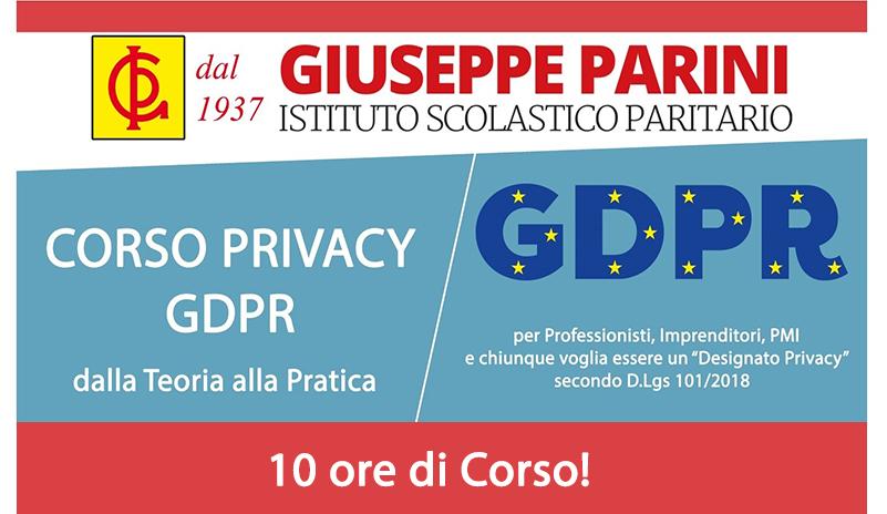 Corso Privacy GDPR